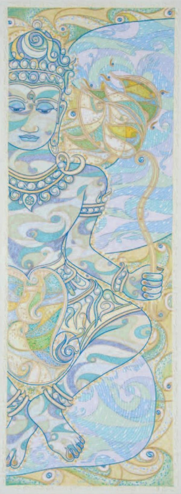 Sûtra du Lotus II, 2011-2013, huile sur toile