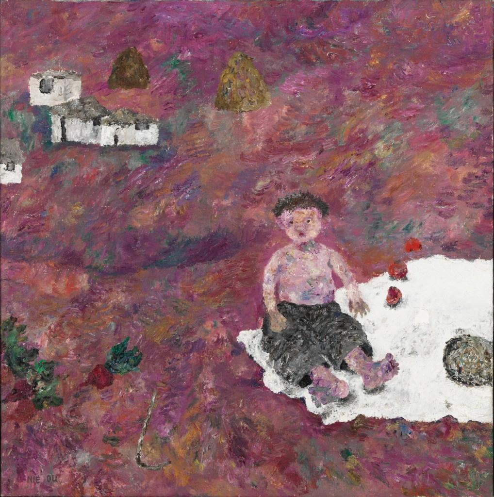 Jour d'été brumeux, 1995, huile sur toile, Nie Ou (chinois, né en 1948)