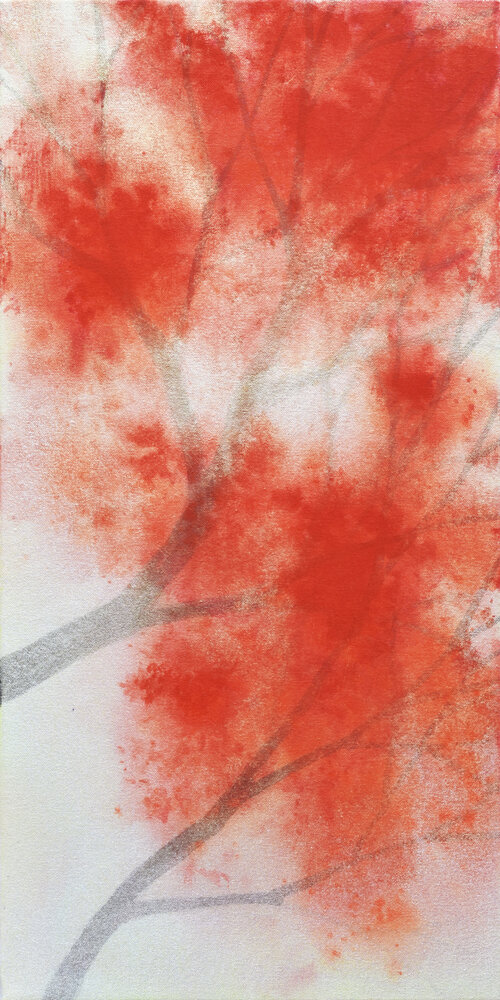 La chute des feuilles rouges, 2020, Takashi-Harada
