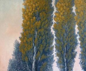 La chaleur du peuplier, huile sur toile, Olga Kvasha