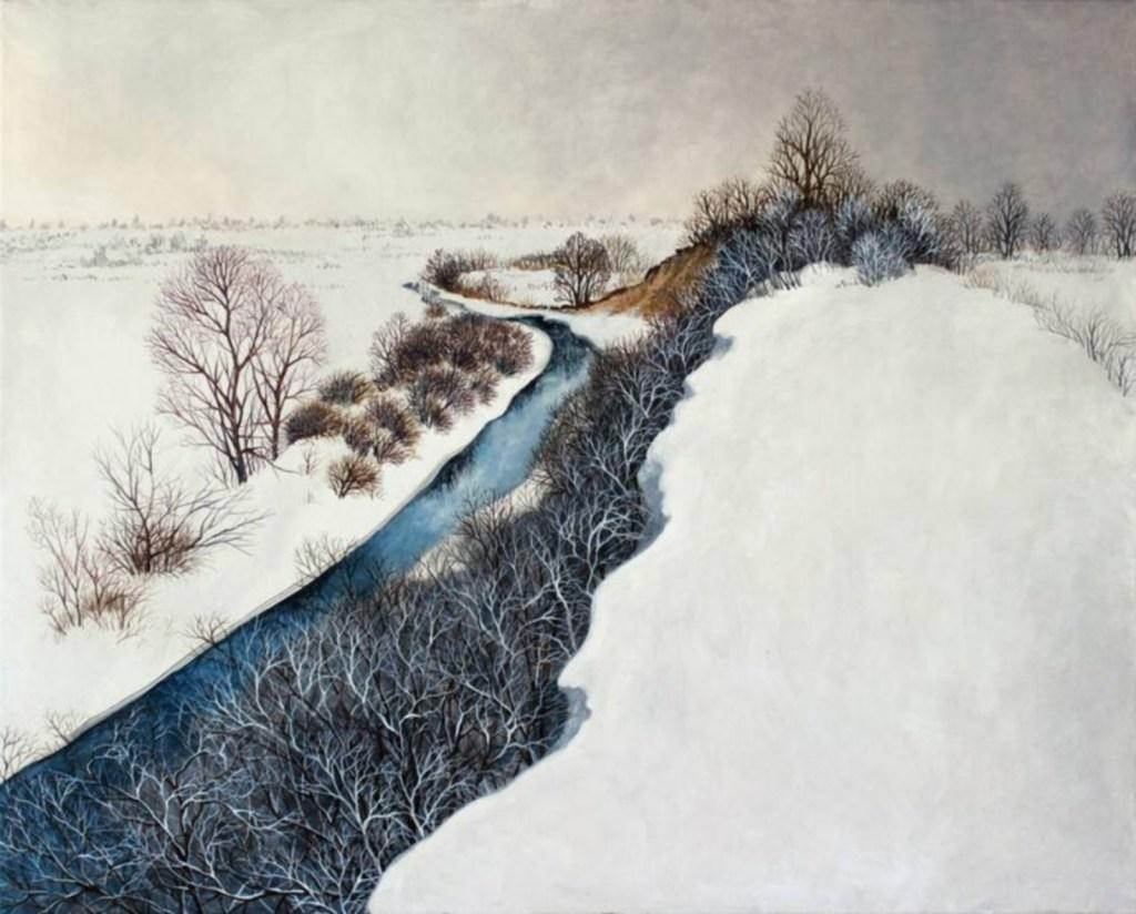 Dans le sombre hiver, huile sur toile, Olga Kvasha