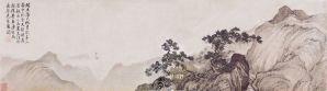 Dans ma cabane, rêvant d'immortalité, rouleau de Tang Yin (1470-1523)