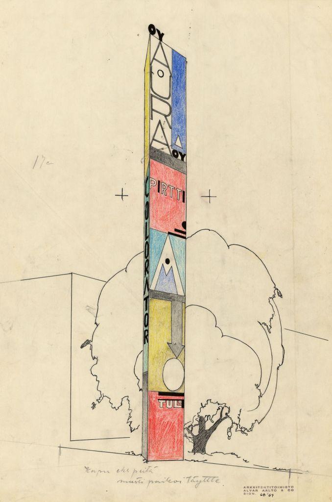 Dessin d'Alvar Aalto