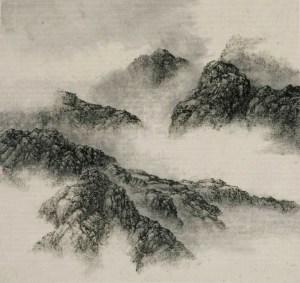 Paysage de montagne n ° 4, 2004, encre sur papier xuan, Hsia I-fu