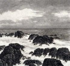 Paysage marin n ° 9, 2004, encre s