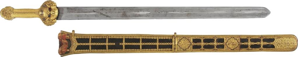 Épée et fourreau, probablement fabriqués dans les ateliers de la cour de l'empereur Yongle Ming