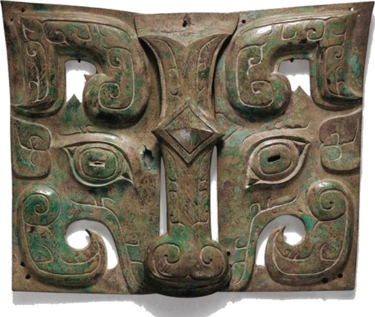 Masque de taotie en bronze, fin de la dynastie Shang, début de la dynastie des Zhou occidentaux