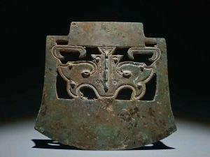 Tomahawk sacrificiel en bronze, dynastie Shang