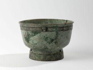 Vase yu en bronze, fonte au moule, entre -1300 et -1050