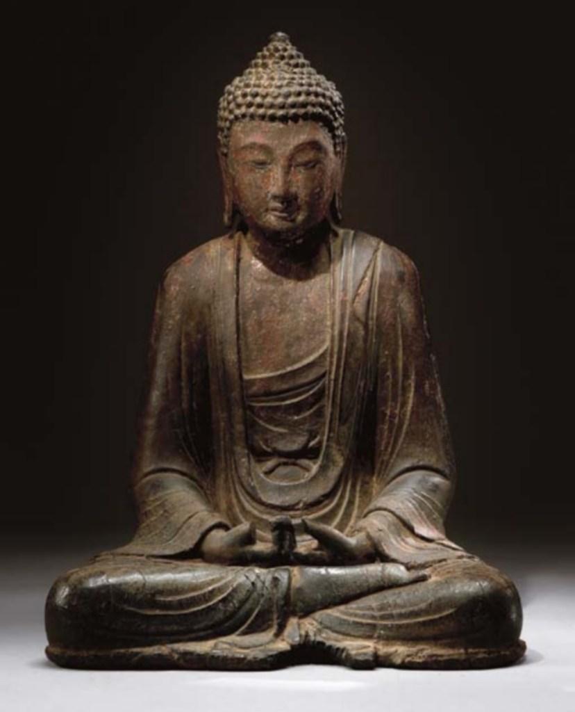 Sculpture de bouddha en bois, royaume de Dali, Xe-XIe siècle