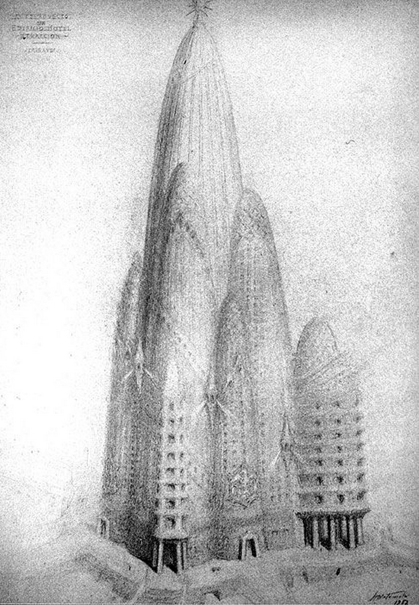 Croquis de Joa Matamala du projet Hotel Attraction à New York