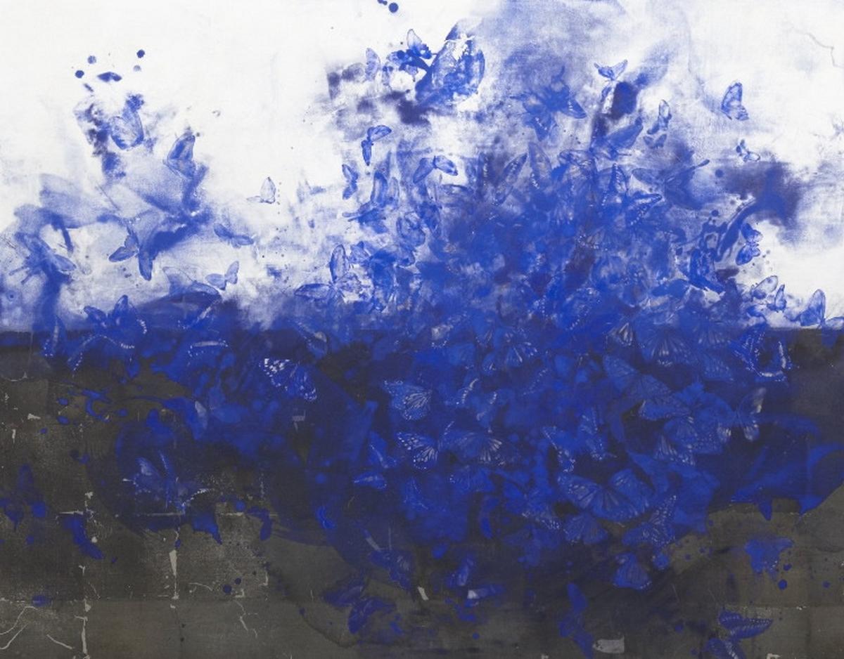 Papillon en bleu, Hiroko Otake