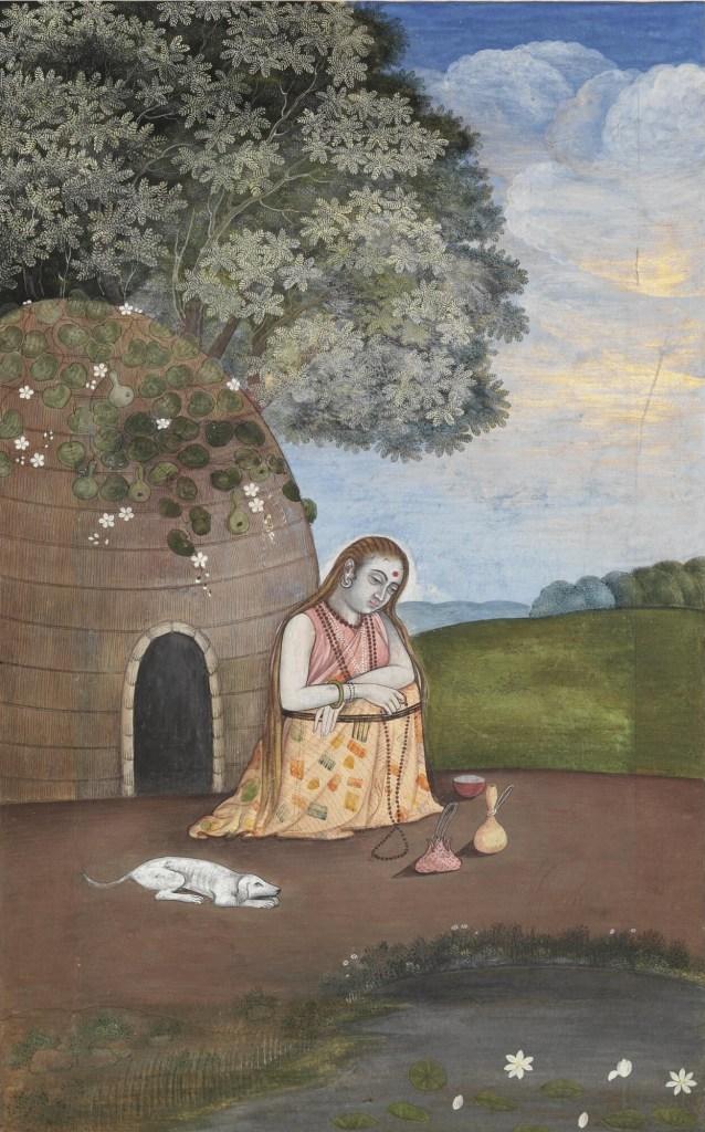 Yogini en méditation
