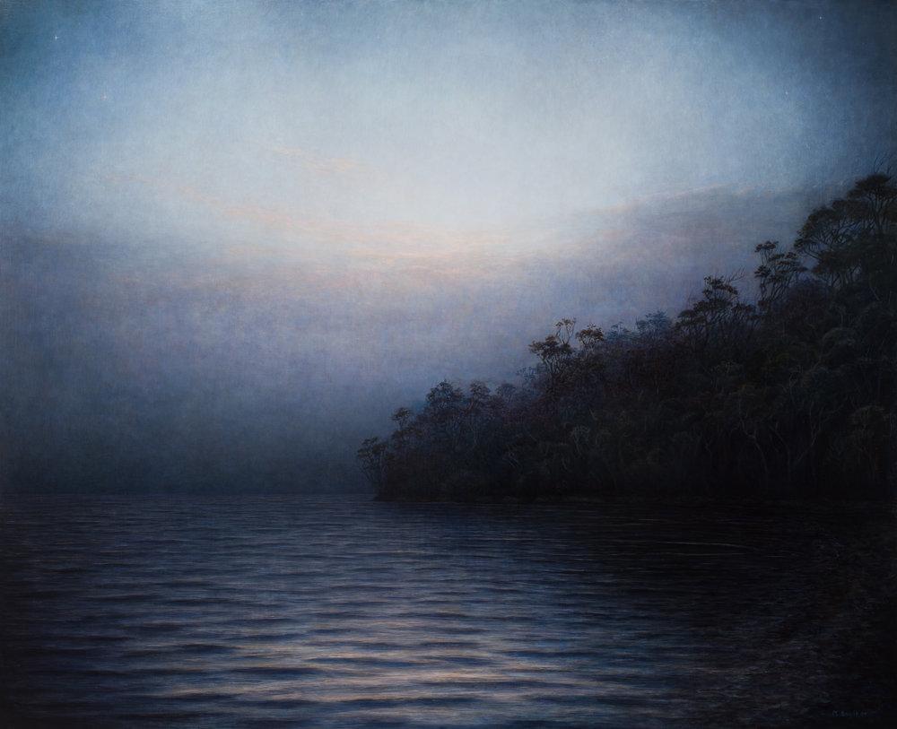 La nuit est tombée, huile sur toile, Michaye Boulter