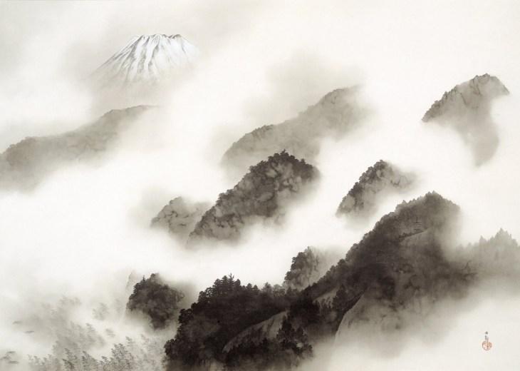 Montagne après une averse, 1940, Yokoyama Taikan