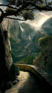 Vue inhabituelle et poétique sur la grande muraille de Chine
