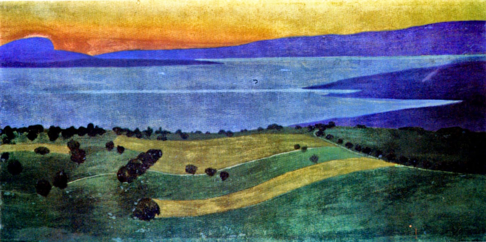 Soir sur le lac Léman, 1900, Félix Vallotton (1865–1925)