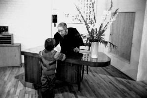 Cheng Man-Ching avec Brecht Andersch à la New York Shr Jung School, photographie de Ken Van Sickle