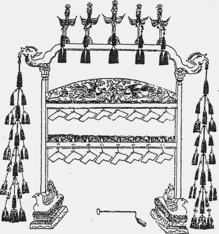 Un qing arrangé, lithophone