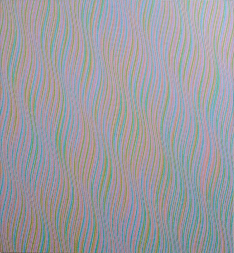 Andante 1 – Acrylique sur toile de lin, 1980, Bridget Riley