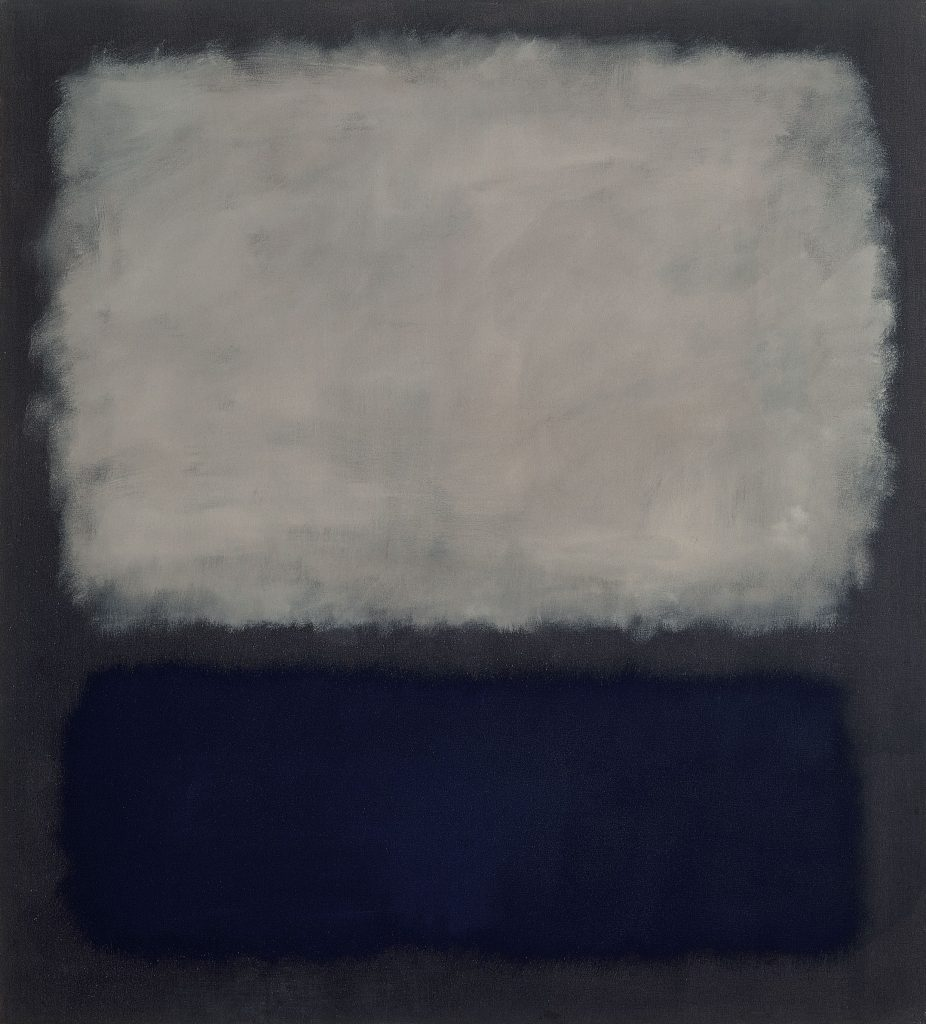 Blue and gray, huile sur toile, 1962, Mark Rothko