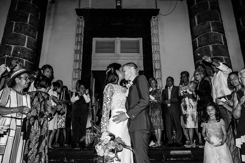 Un mariage à l'Eglise de Saint-Benoit de la Réunion
