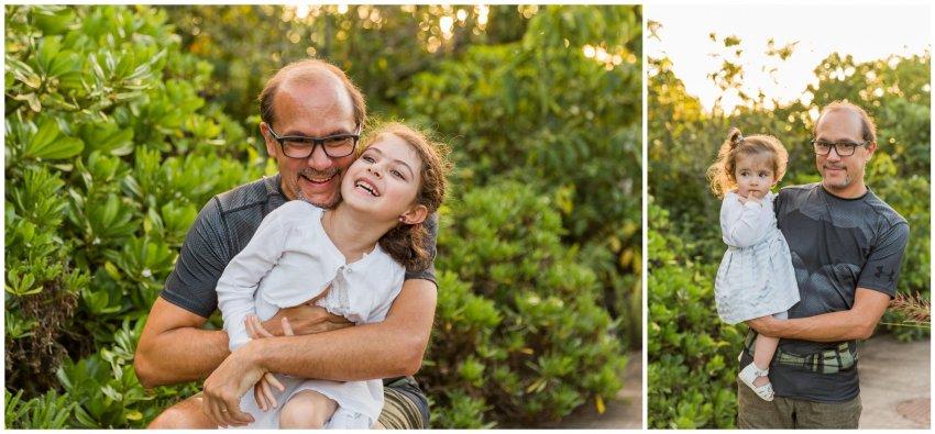 un papa et sa fille à beauséjour lors d'une séance photo