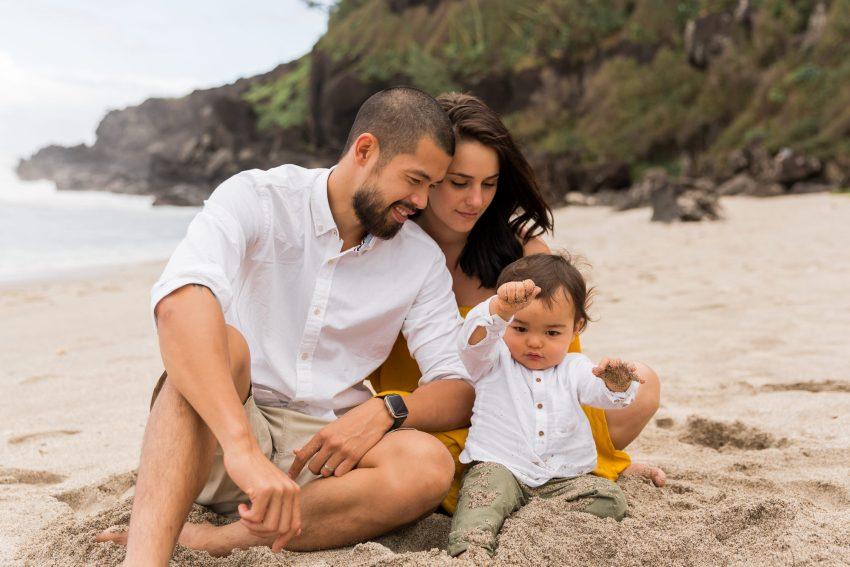 Shooting famille à la plage
