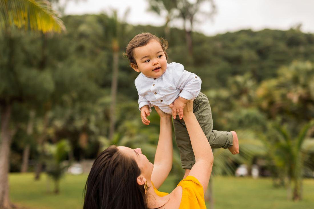 Séance photo de famille à la Réunion