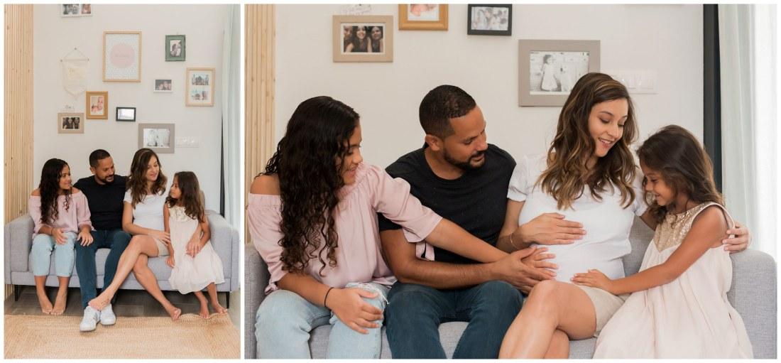 Une séance grossesse en famille à domicile