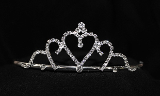 heart tiara with side combs