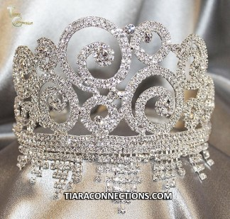 silver plated tiara