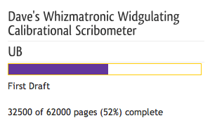 Whizmatronic-Scribometer writing word count progress meter