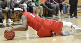 Diving for the loose ball