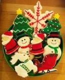 xmas cookie plate