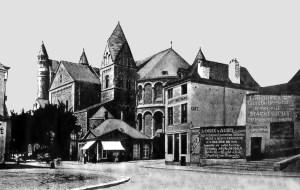 Graanmarkt 1869 met O.L.Vrouw,kerk