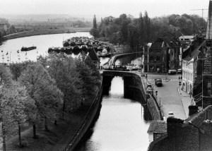 Kesselskade 1954 - kanaal en stadspark-1
