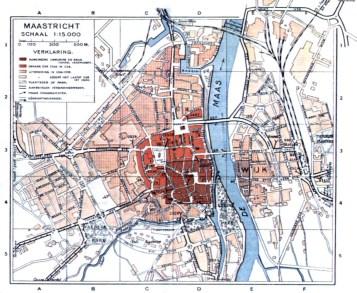 Maastricht plattegrond±1920 (ontwikkelingsstadia)