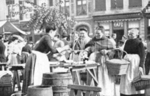 Markt Mooswiever in de handel ± 1900