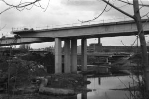 Noorderbrug aanbouw (vanaf KNP) 1983