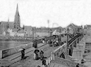 St. Servaasbrug ±1890 richting Wyck