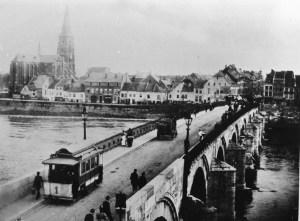 St. Servaasbrug met gaastram 1894