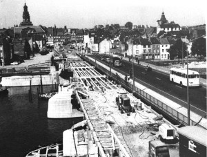 Wilhelminabrug 1959 Verbredings werkz.heden