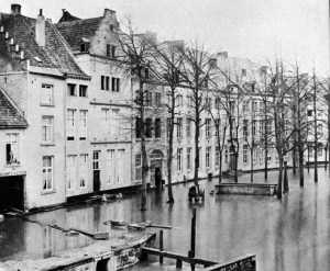 Grote Looierstraat 1880 overstroming