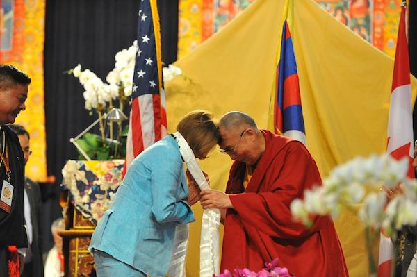 ... Nancy Pelosi at NATA's event to honor His Holiness the Dalai Lama