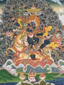 Tibetan Buddhism Iconographic King-of-Qualities