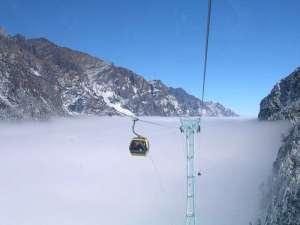 hailuogou glacier cable car