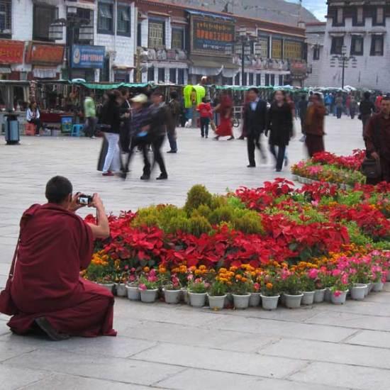 tibet monk at festival