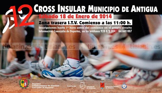 Unos 250 atletas participarán este sábado en la 12ª edición del Cross Insular Municipio de Antigua