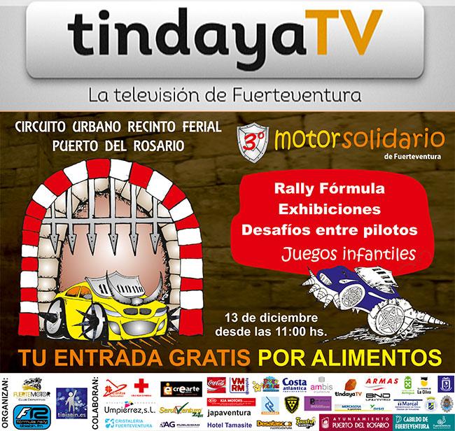 """Hoy viernes Fórmula Rally """"Especial Motor Solidario"""" en Tindaya TV"""